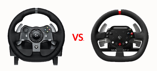 Logitech G920 vs Mad Catz Racing Wheel