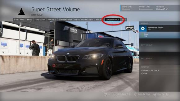 Forza Motorsport 6 leaderboard