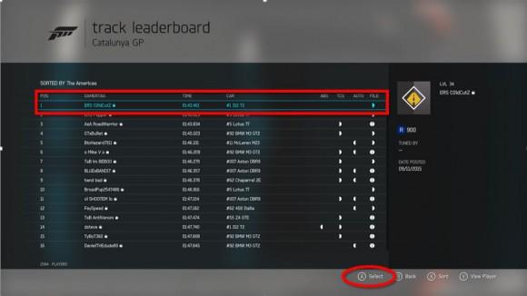 Forza 6 choose a rival