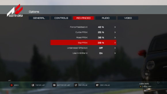 TMX T150 Assetto Corsa Settings
